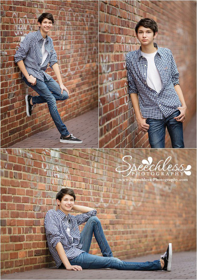 Teen / Senior guy photography session, guy poses in brick alley with graffiti, senior guy poses