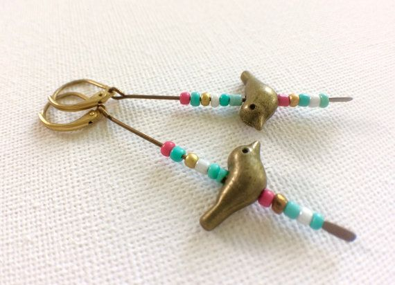 Bird Lover Bird Earrings Bird Earrings Bird by PERCIVALandHUDSON