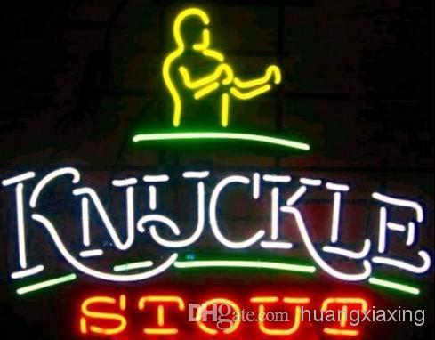 RARE! Bare Knuckle Stout Brawler Logo Neon Beer Sign Bar Light NEW! Pro Dealer