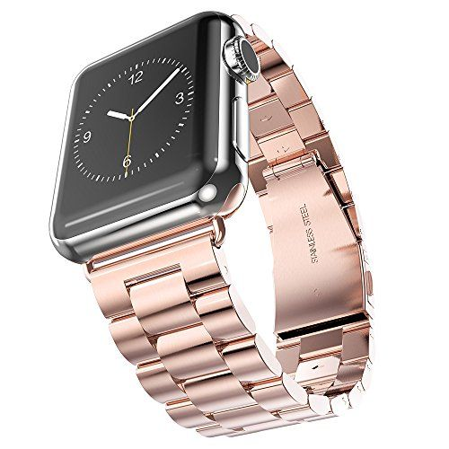 $46.99 Apple Watch Band, Oittm 42mm Apple Watch Strap Stainless Steel Metal Replacement Strap Classic Apple iWatch Wrist Band with Double Button Folding Clasp for Apple Watch (42mm Rose Gold) Oittm http://www.amazon.com/dp/B00YOLUB0K/ref=cm_sw_r_pi_dp_UCaOvb0H86GZF