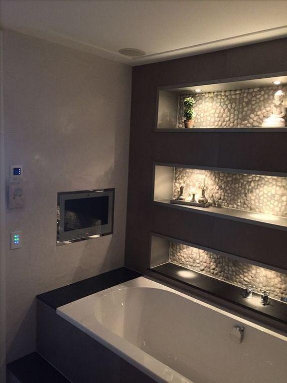 30+ Beste DIY Tv Design-Ideen, die sich im Badezimmer für entspannende Spa-Momente befinden  #badezimmer #befinden #beste #design #e