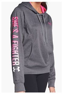 under armour breast cancer. under armour \u0027power in pink - she\u0027s a fighter\u0027 hooded sweatshirt breast cancer