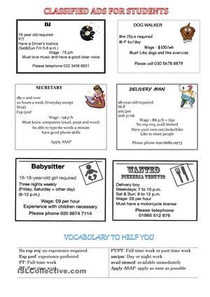 ... ads worksheet - Free ESL printable worksheets made by teachers