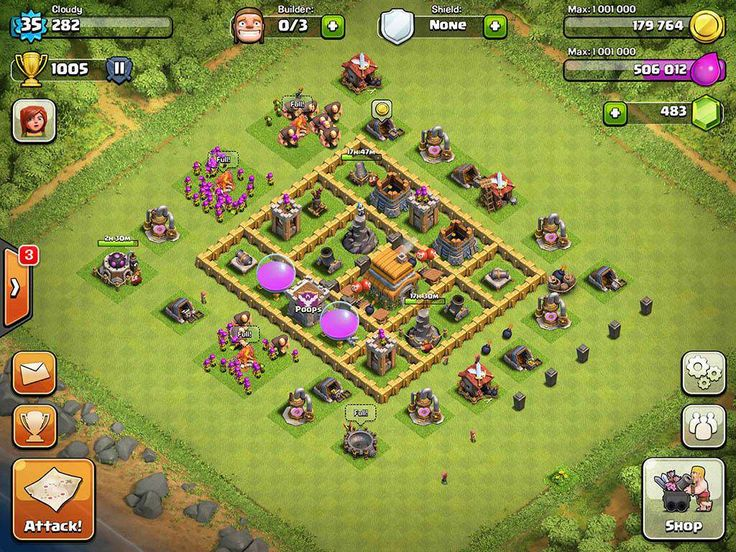 Clash of Clans Base Designs Town Hall Level 6
