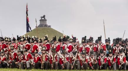 Watch a spectacular re-enactment of the Battle of Waterloo