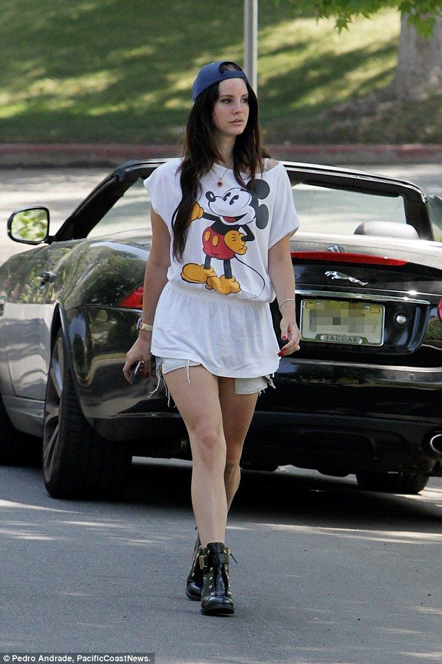 Second time: Lana Del Rey has allegedly been the target of obsessed fans twice in the last month, with a woman allegedly stealing two of her cars (pictured is her 2013 Jaguar XK convertible which was reportedly stolen) and living in her home