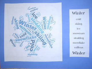 Mrs. T's First Grade Class: Science - Seasons poems - using Tagxedo.com