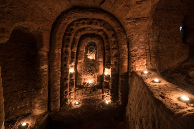 The cave, beneath a farmers field in Shropshire, was used by the medieval religious order that fought in the Crusades and these stunning images were captured by photographer Michael Scott.17