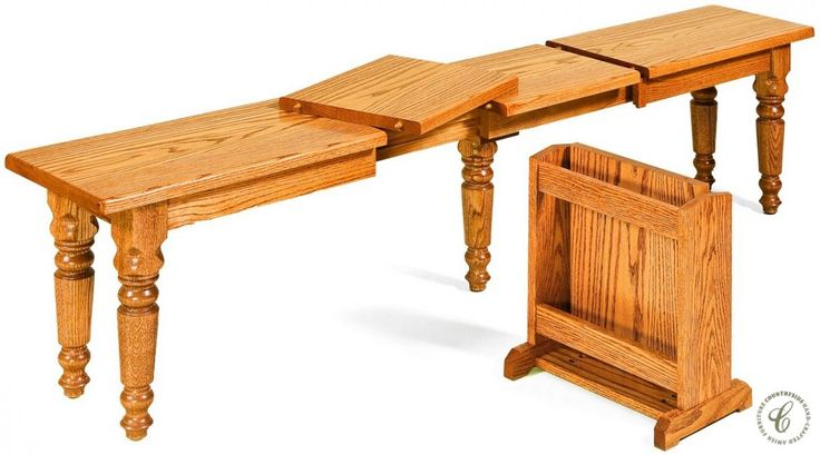 Turned legs and real wood construction allow our handmade Bagby Extendable Dining Bench to fit perfectly in your Traditional dining room or kitchen.