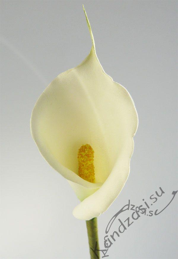 Цветок каллы из фоамирана мастер класс
