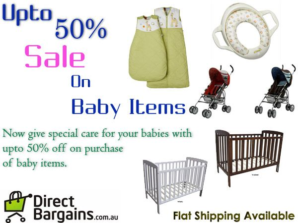 Find great daily deals on baby items at Direct Bargains. Discounts available on baby safety gates, baby carriers, baby clothing, strollers & params, baby toilet training and much more. Buy today and save. Check out the latest offers and deals on baby items form the link below.  http://www.directbargains.com.au/baby-6-1.html