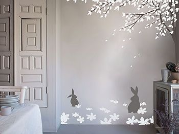 Bunny Meadow wall stickers- would be so amazing for a child's room!