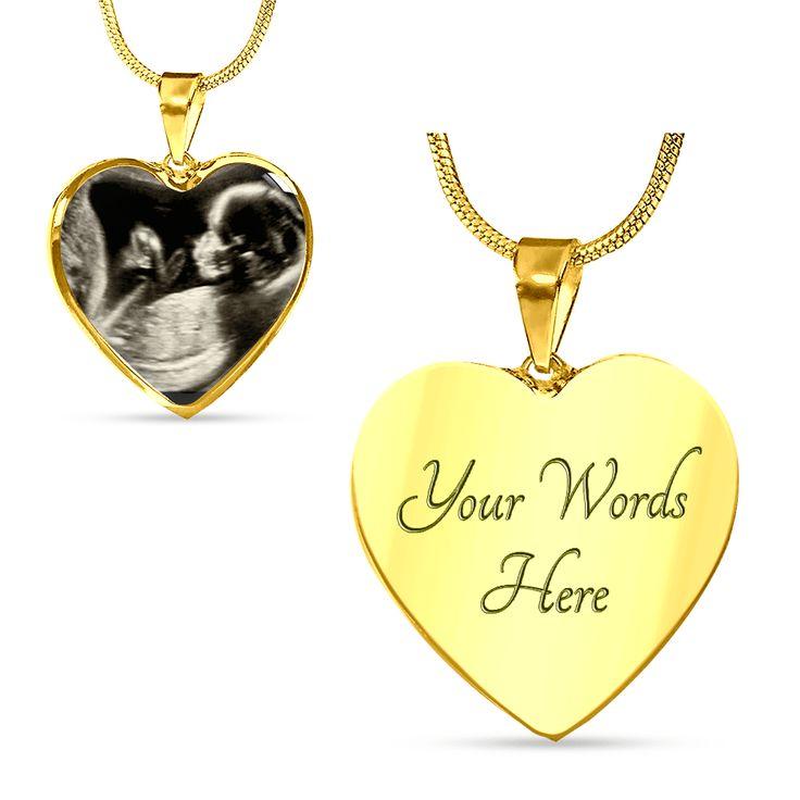 Sonogram Heart Necklace [2 Variants]   – Sonogram Jewelry