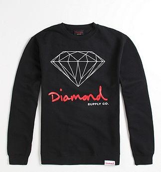 Diamond Supply Co Logo Script Crew Fleece - PacSun.com