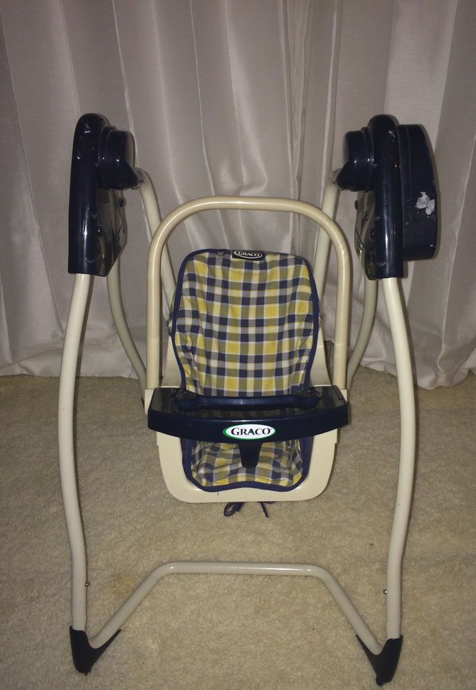 Graco 2 in 1 Baby Doll Swing with Table Blue Boy Graco