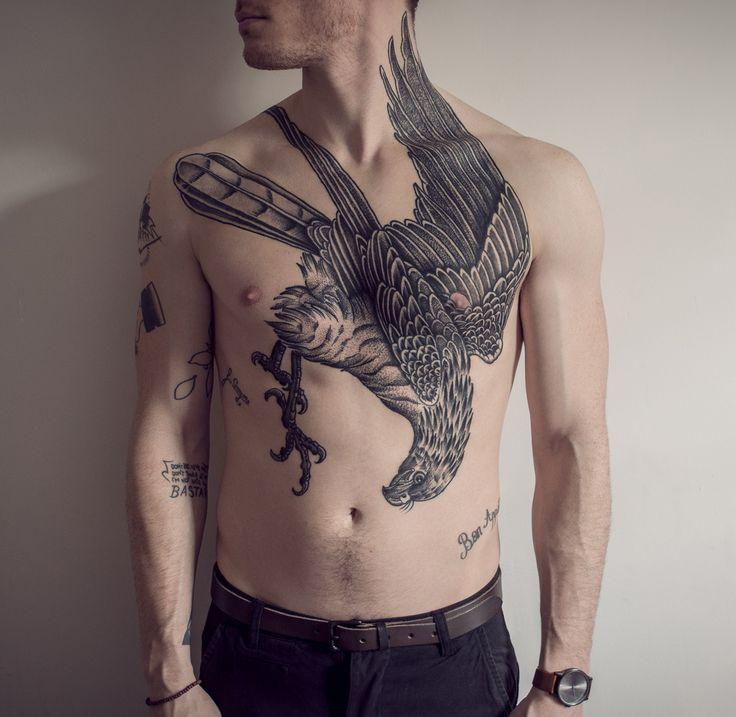 Badass Pigeon by MxM at Sang Bleu Tattoo, London UK