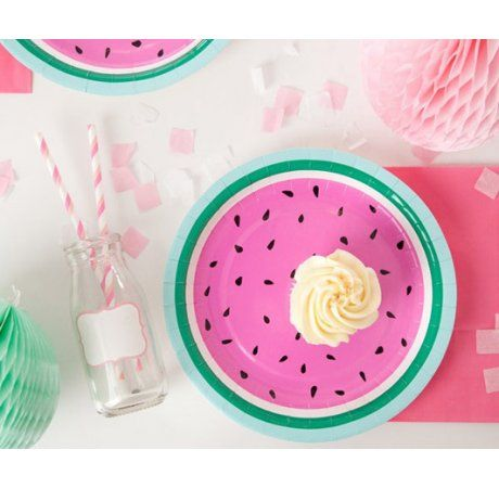 Gorgeous limited edition Watermelon Paper Party Plates!   Our watermelon paper party plates are produced with a gorgeous satin gloss finish and perfect for celebrations of all ages!  #tuttifrutti #fruit #summer #colour #littleboy #littlegirls #birthday #party #events #styling #watermelon #designerkids #designerbaby #partyshop #partydecor #rainbow #partyideas #kidsparty #designerparty #balloons #partyware #motherhood #parenting #pregnancy #nursery #babyroom #decor #styling #littlebooteekau