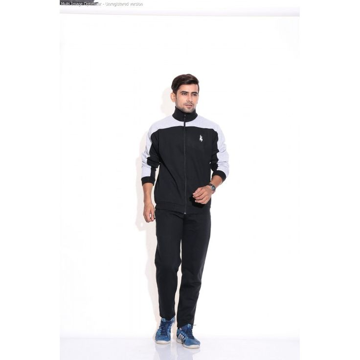 Posh 7 Black Stylish Track Suit http://goo.gl/5GgTMj