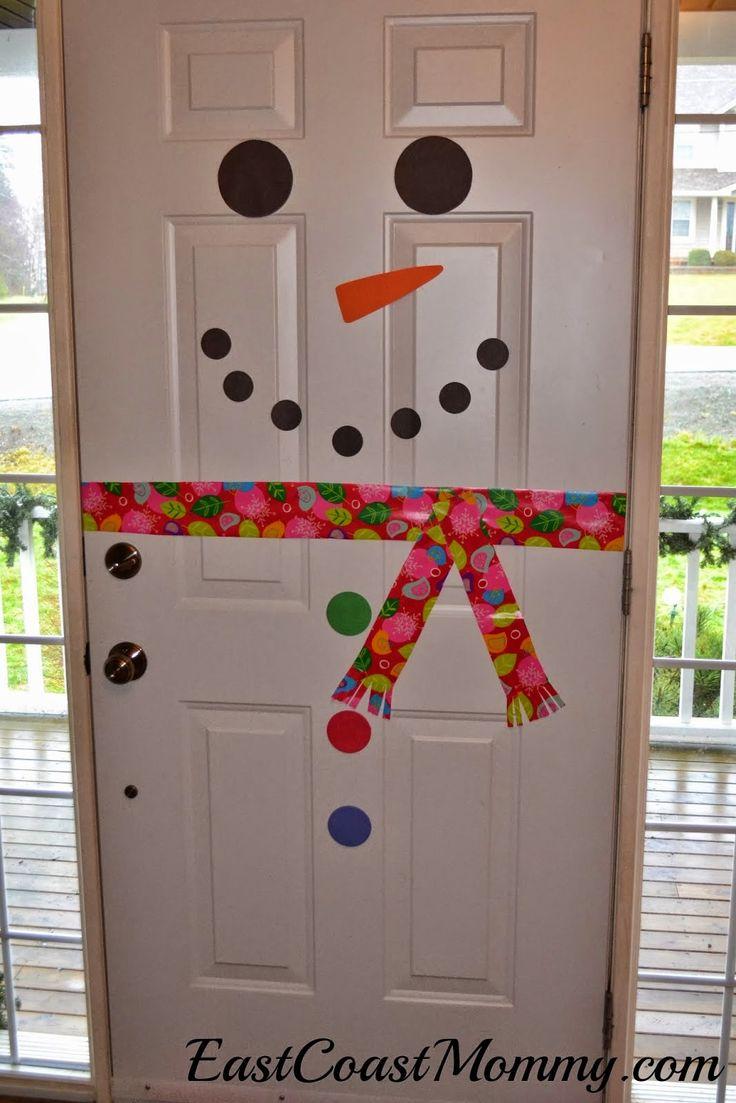 Снеговик на двери оформление своими руками шаблоны фото