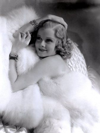 Jean Harlow - love old Hollywood pics!  Like the pose, it would hide my tummy :) but not my back fat :(