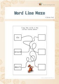 Word Line Maze 4 - Individual File Download