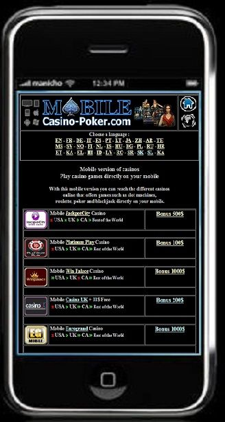 Play on your mobile - http://www.mobile-casino-poker.com/
