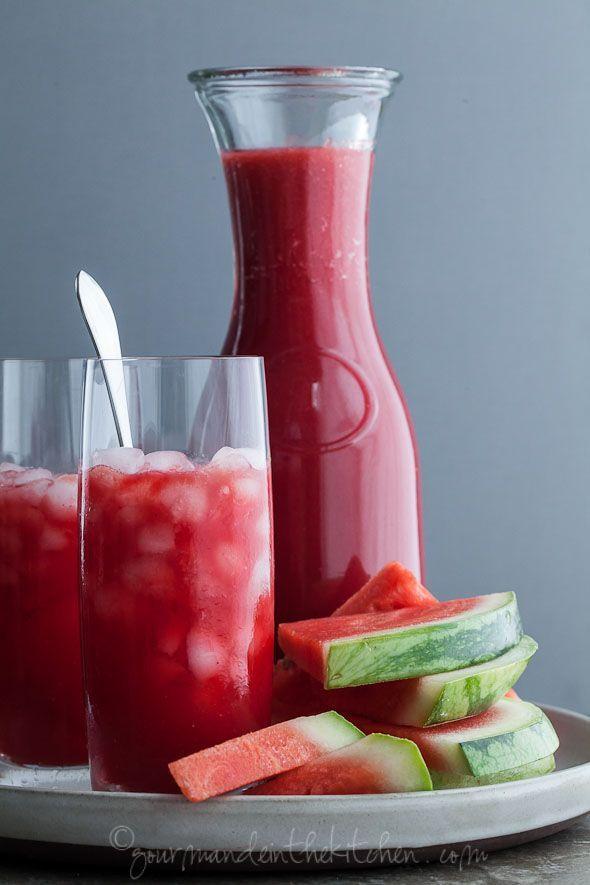 Watermelon Raspberry Lemonade Recipe (Naturally Sweetened) from gourmandeinthekitchen.com