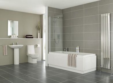 Images Of like white bath contrast with floor and wall tiles