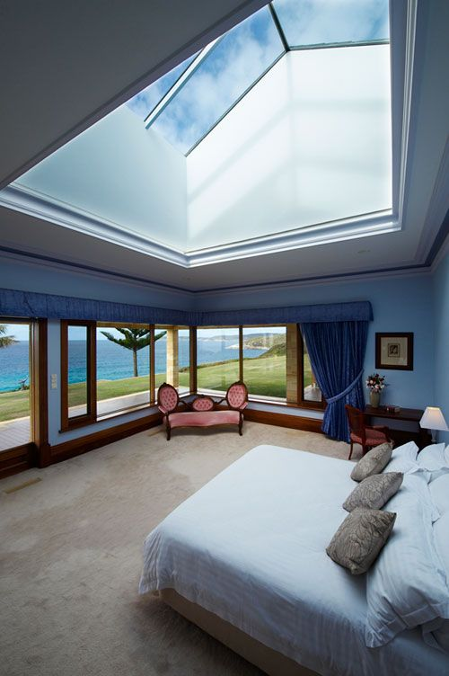 Not sure I like this particular design, but I want to have a big skylight above the bed.