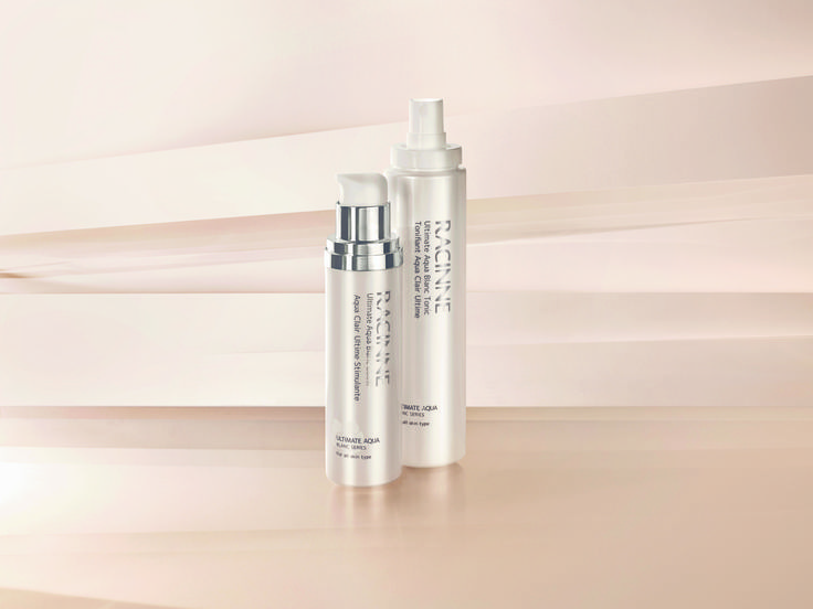 Racinne's Tonic and Boost products from their Ultimate Aqua Blanc Series used to improve the overall quality of the complexion