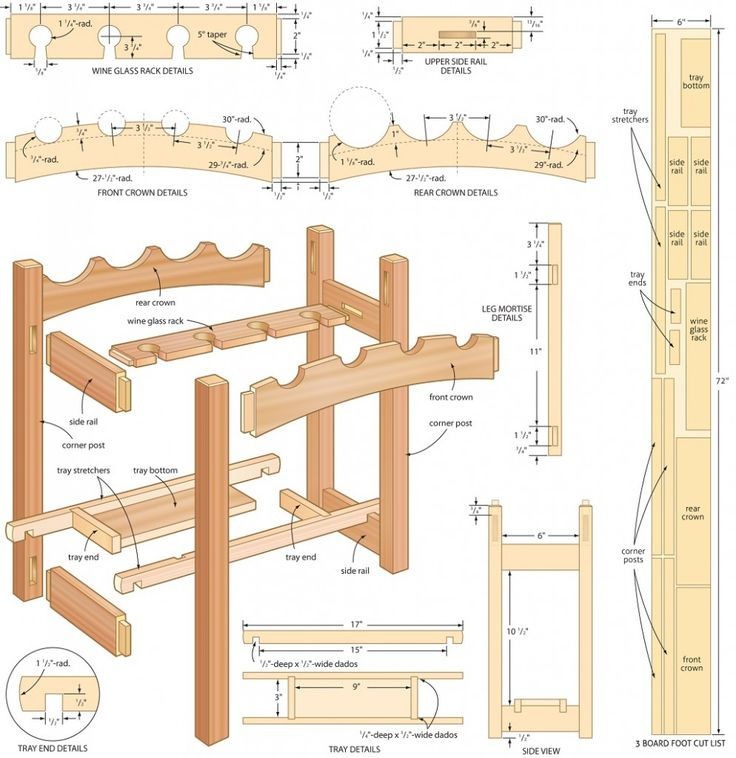 4 Free Wine Rack Plans for You to Try