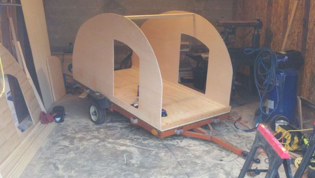 Homemade Teardrop Camper | ... teardrop or any camping trailer you have to plan a bit ahead i