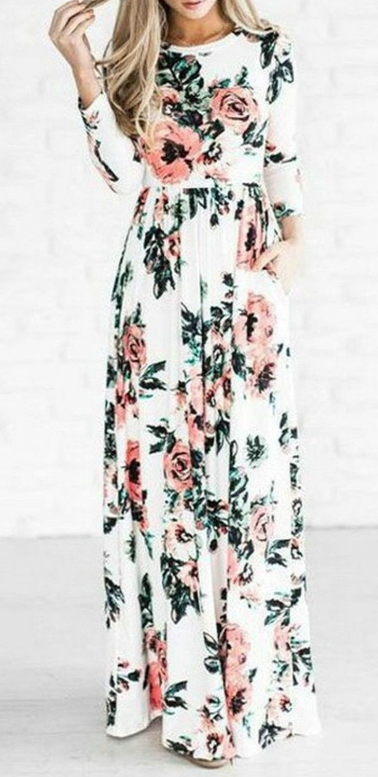 Awesome 62 Trends Ideas For Long Sleeve Maxi Dress To Makes You Look Casual. More at https://trendwear4you.com/2018/02/22/62-trends-ideas-long-sleeve-maxi-dress-makes-look-casual/