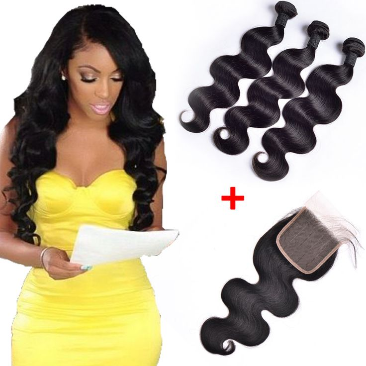 7A Brazilian Virgin Hair With Closure With Baby Hair Brazilian Human Hair Weave 3 Bundles Brazilian Body Wave With Lace Closure -- Check out this great product.