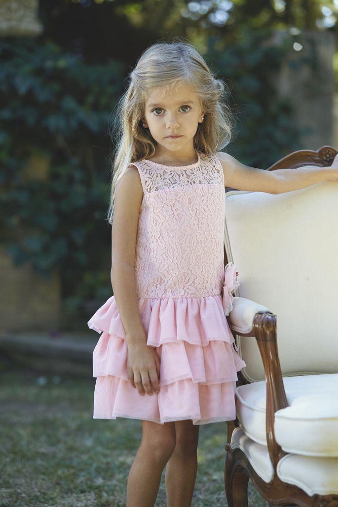 Vestido De Ceremonia Niña Tallas Hasta 6 Años Primavera