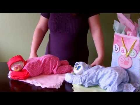 How to Make a Sleeping Baby out of Diapers - DIY diaper cake tutorial - YouTube