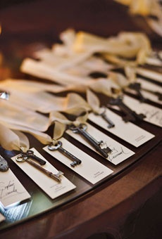 I admit it. I have a thing about old keys...the shapes, the history, their stories. Love using them at weddings as a symbolic bridge from the past to the future.