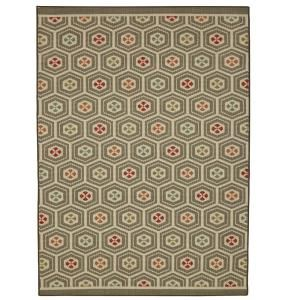 Mohawk Home Melody Stripe Cool 7 ft. 6in. x 10 ft. Area Rug-003270 - The Home Depot