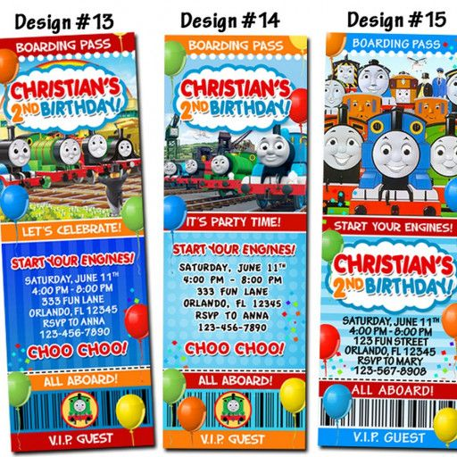 Each ticket invitation is sized at 2x6 and the listing is for one design of your choice! WHAT TO DO: 1. Purchase the listing, then submit payment 2. E-mail all of the party details to (funinvites.us@gmail.com) o Design Number (located above the design) o Child's Name o Child's Age o Party Date o Party Time o Party Address o RSVP Name and Number o Attach Photo if you'd like to add one (no additional charge) o Any extra words to include, color changes, additional ...