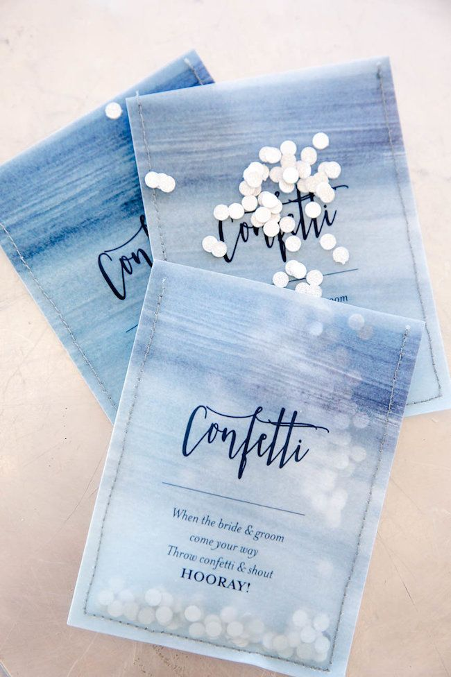 confetti daydreams wedding invitations%0A Decor   Details  Watercolor Wedding Ideas in Ocean Blue and Silver  Jaqui  Franco