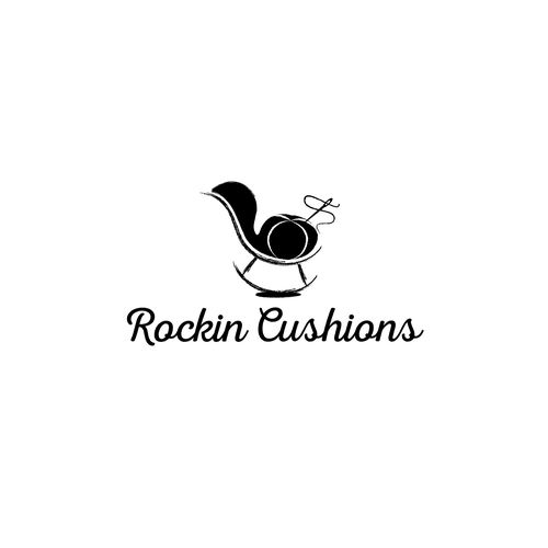 classy chair logo design. A literal design for a shop making rocking chair cushions  Since the products are handmade 279 best Logo images on Pinterest Drawing drawing Illustrator
