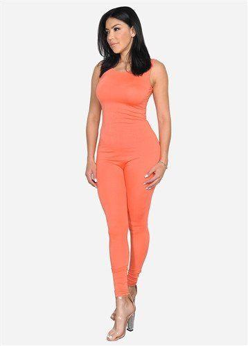 Crush On Me Jumpsuit myreignapparel.com 95%RAYON 5%SPANDEX Coral Jumpsuit Available In Plus Size