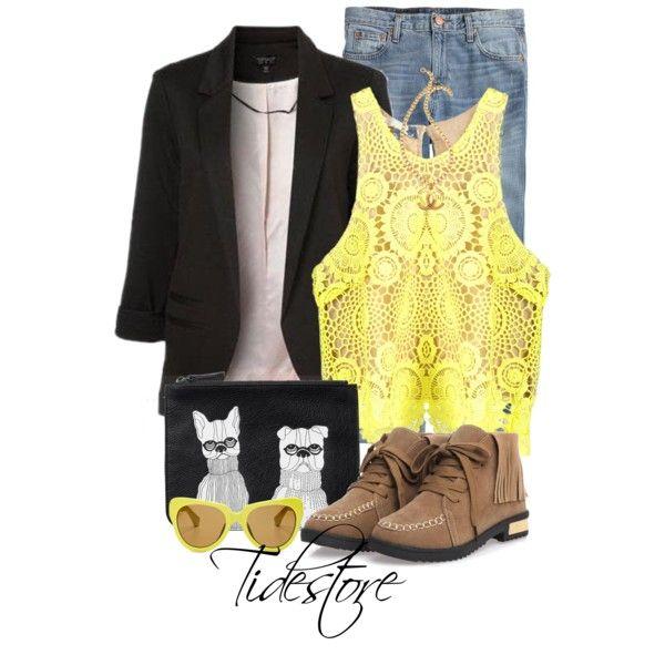 Fashionable Black Blazer Sale Tidestore #Tidestore #Polyvoresets #Blazer