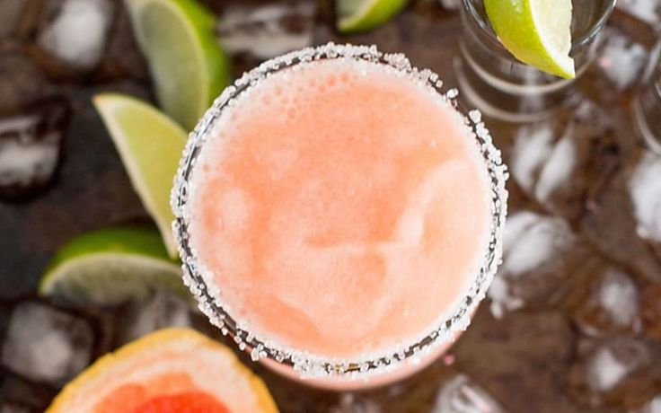 Frozen Palomas are a fun twist on a classic tequila based cocktail.