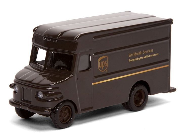 "UPS Trucks For Kids UNITED PARCEL SERVICE 4"" P-600 Package Delivery Truck"