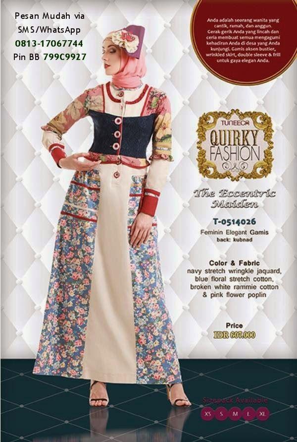 Gamis Tuneeca Edisi Lebaran 2014   Cantik Berbaju Muslim