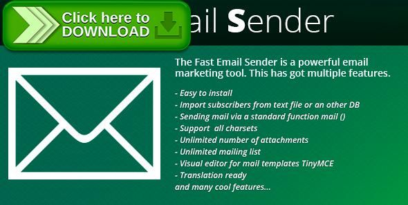 [ThemeForest]Free nulled download Newsletter: Fast Email Sender from http://zippyfile.download/f.php?id=49800 Tags: ecommerce, e-newsletters, email newsletters, mail, mailer news, newsletter, php email, php newsletter, php newsletter script, script php mailer, smtp, smtp email, smtp newsletters