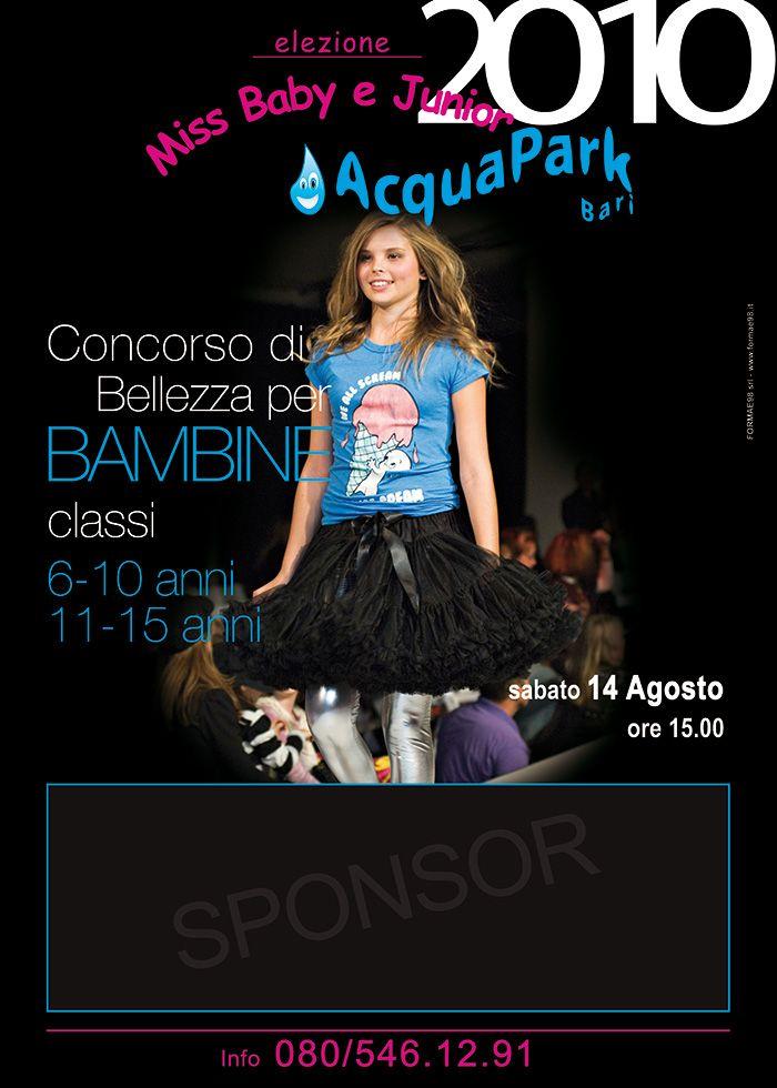 Manifesto Concorso di bellezza Miss Baby 2010