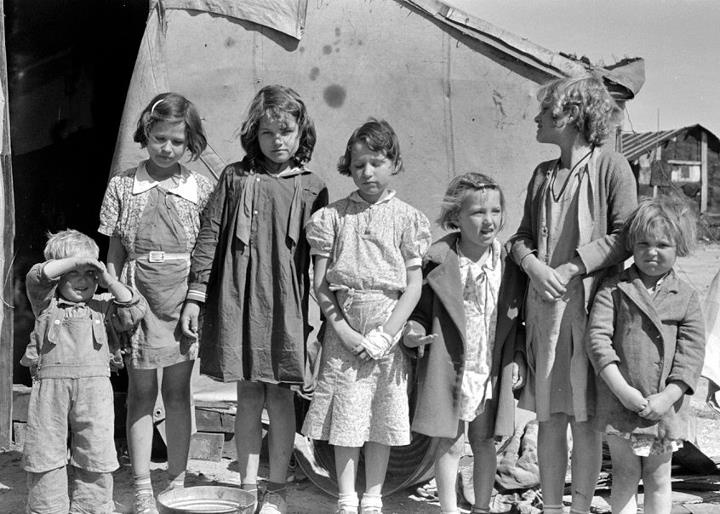 Children of squatters on Corpus Christi Bay, late 1930's.
