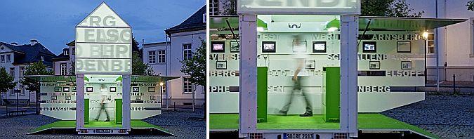 a pie de calle – moving icon, pabellón expositivo itinerante